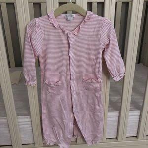 Kissy Kissy pink and white stripe pajamas